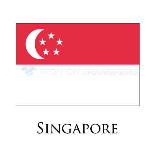 Singapore flag Iron-on Stickers (Heat Transfers)NO.1981