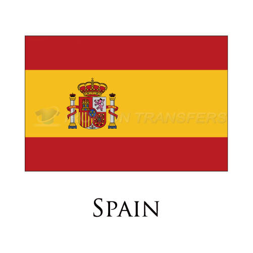 Spain flag Iron-on Stickers (Heat Transfers)NO.1988