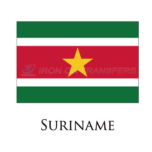 Suriname flag Iron-on Stickers (Heat Transfers)NO.1991
