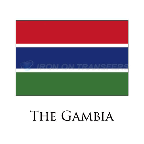 The Gambia flag Iron-on Stickers (Heat Transfers)NO.1999
