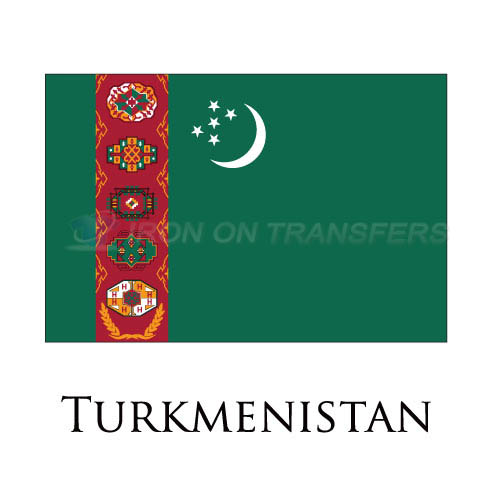 Turkmenistan flag Iron-on Stickers (Heat Transfers)NO.2006