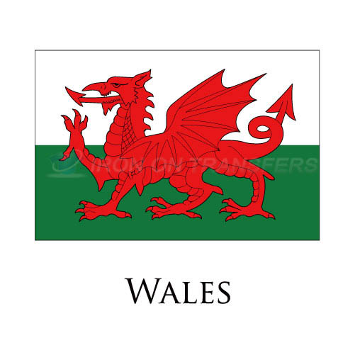 Wales flag Iron-on Stickers (Heat Transfers)NO.2019