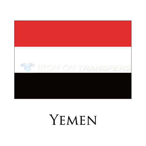 Yemen flag Iron-on Stickers (Heat Transfers)NO.2021